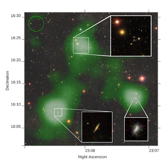 Astronomers find stream of gas—2.6 million light years long