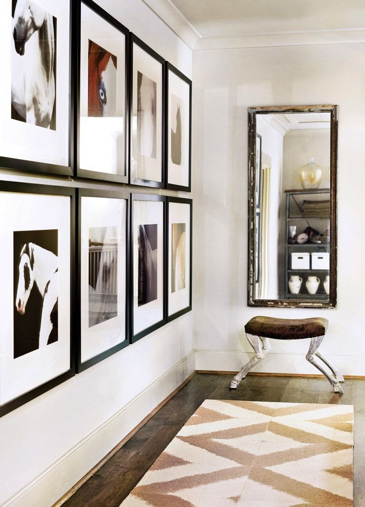 I like the gallery wall, but maybe not pictures of horses ;)