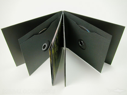 Cd Dvd Book Packaging With Swinging Sleeves Chipboard Core Book