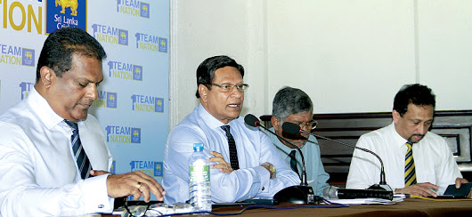 Sumathipala camp hold press conference to claim they fear ICC will suspend Sri Lanka