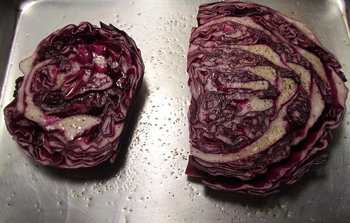 Roasting Cabbage for One
