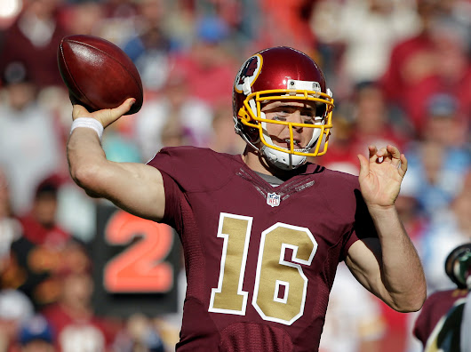 Colt McCoy steps in during the second half, leads Redskins to 19-17 victory over Titans