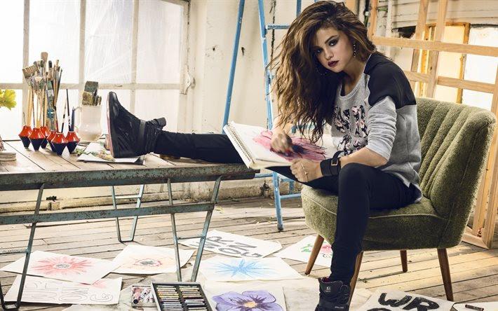 Indir Duvar Kağıdı Kızlar Selena Gomez Aktris şarkıcı Boyama