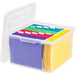 Iris Store-It-All Letter and Legal File Box, Clear