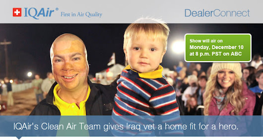 IQAIR's Clean Air Team gives Irag war vet a home fit for a hero! - Better Innovations Blog