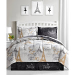 Fairfield Square Collection Paris Gold 8 Piece. Reversible Queen Comforter Set