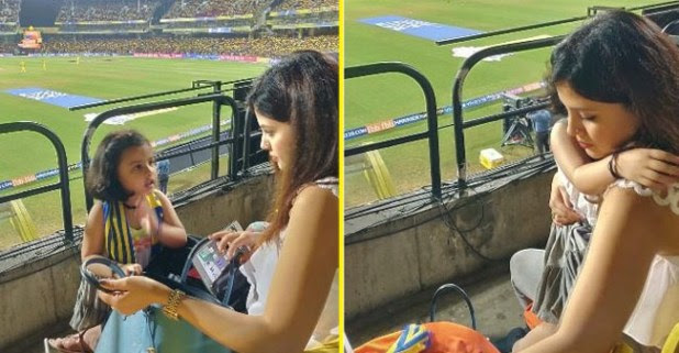 MS Dhoni's Daughter Ziva's Tantrum During The Match Is Too Cute To Watch