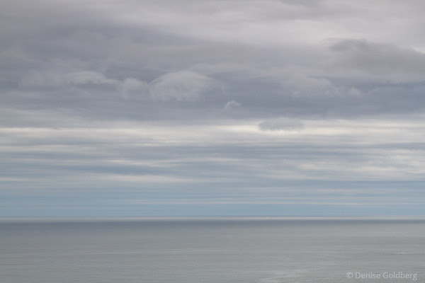 sea and sky, on Ocean Path in Acadia National Park