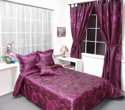 bordeaux lilas couvre lit