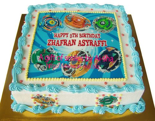 Birthday Cake Edible Image Beyblade