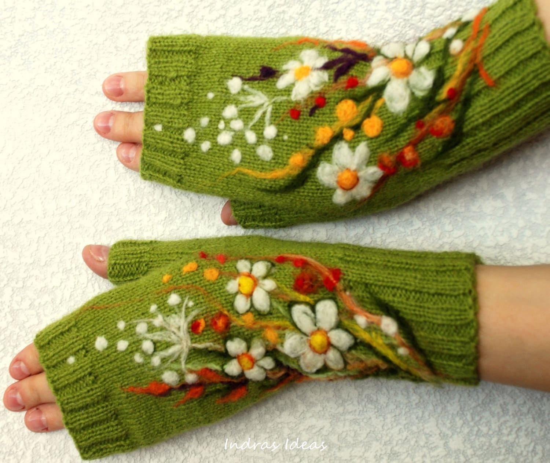 orgu-nakis-eldiven-yeşil
