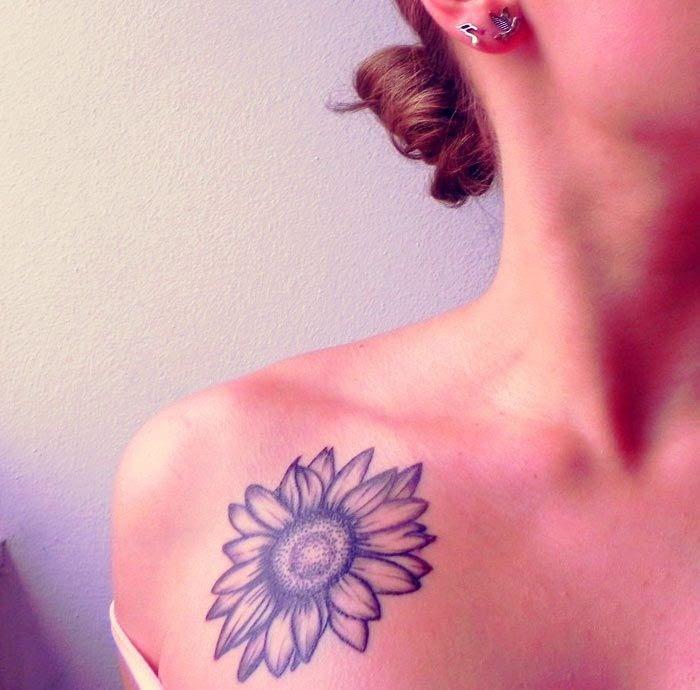 Shoulder Sunflower Tattoos Design Of Tattoosdesign Of Tattoos