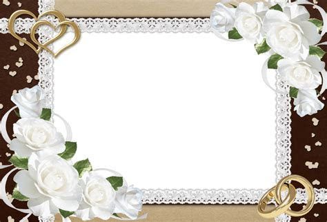 Download Fancy Wedding Border Png Clipart HQ PNG Image in
