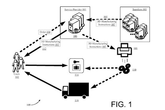 When Drones Aren't Enough, Amazon Envisions Trucks with 3D Printers