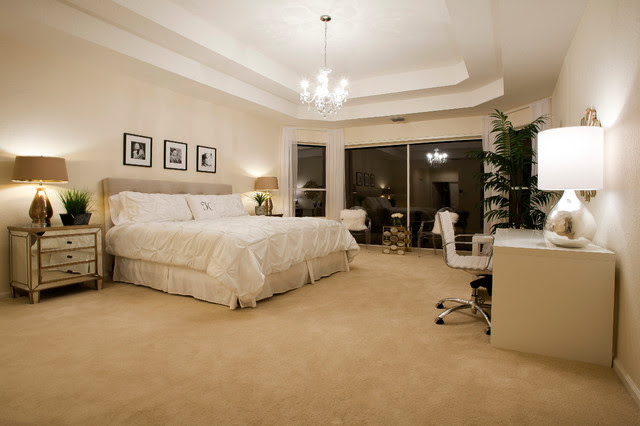 Inspired by the Glamour of Old Hollywood - modern - bedroom ...