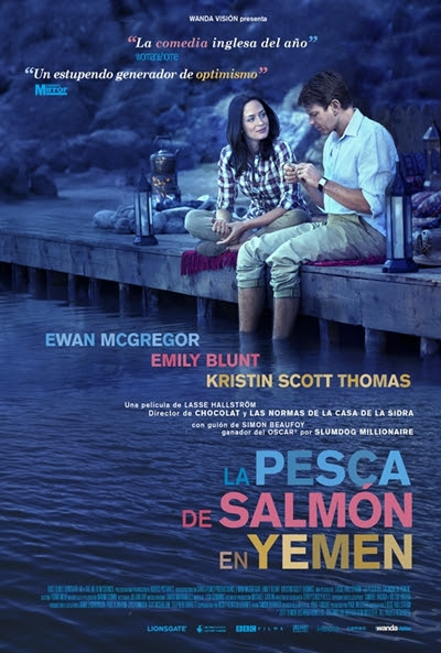 Cartel de La pesca de salmón en Yemen (Salmon Fishing in the Yemen)