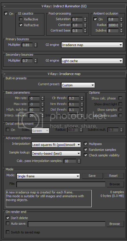 3ds Max Vray Noise Shadows Process