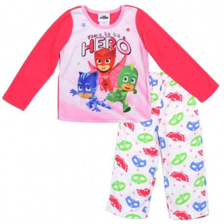 Disney PJ Mask Toddler Girls 2 Piece Pajama Set - Houston Kids Fashion Clothing