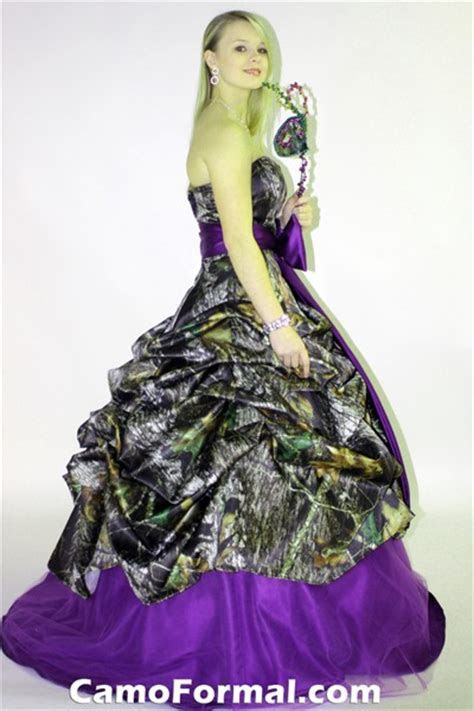 3066 Camo Pickup Ball Gown Camouflage Prom Wedding