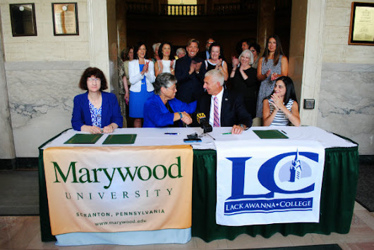 Marywood University and Lackawanna College  Collaborate on Dual Admission Agreement