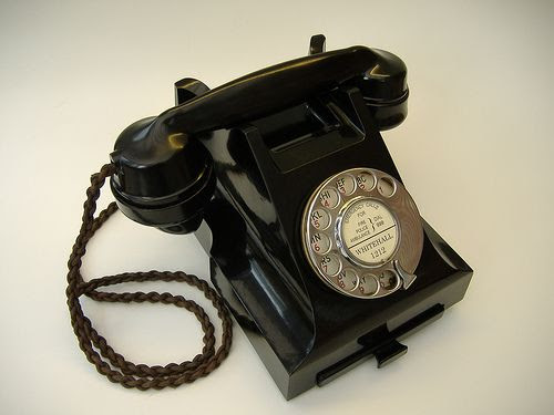 ~ Old Black Rotary Telephone ~  Love the Sound and Feel of These Old Dials...