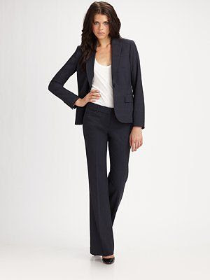 Theory Gabe Blazer and Max C Flare Leg Pants
