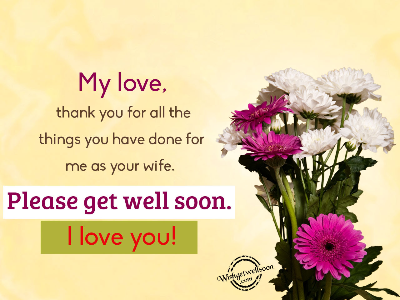 Get Well Soon Quotes For Husband Get Well Soon Sms Text Messages