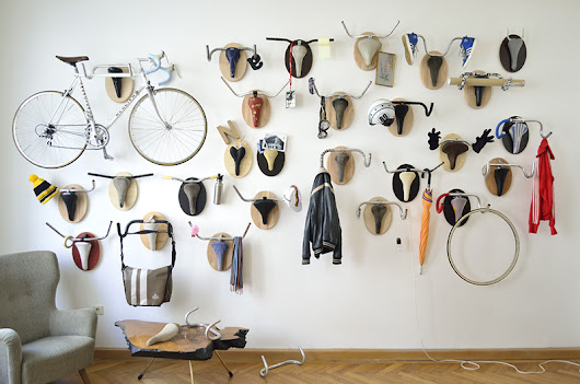 Hunting Trophies: Repurposed Vintage Bike Parts Converted into Functional Taxidermy Racks | Colossal