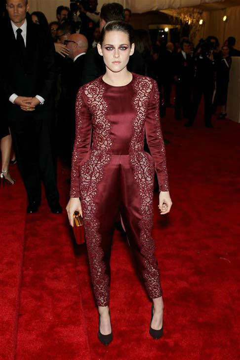 Kristen Stewart appears at the PUNK: Chaos To Couture Costume Institute Gala at the Metropolitan Museum of Art in New York City on May 6, 2013.