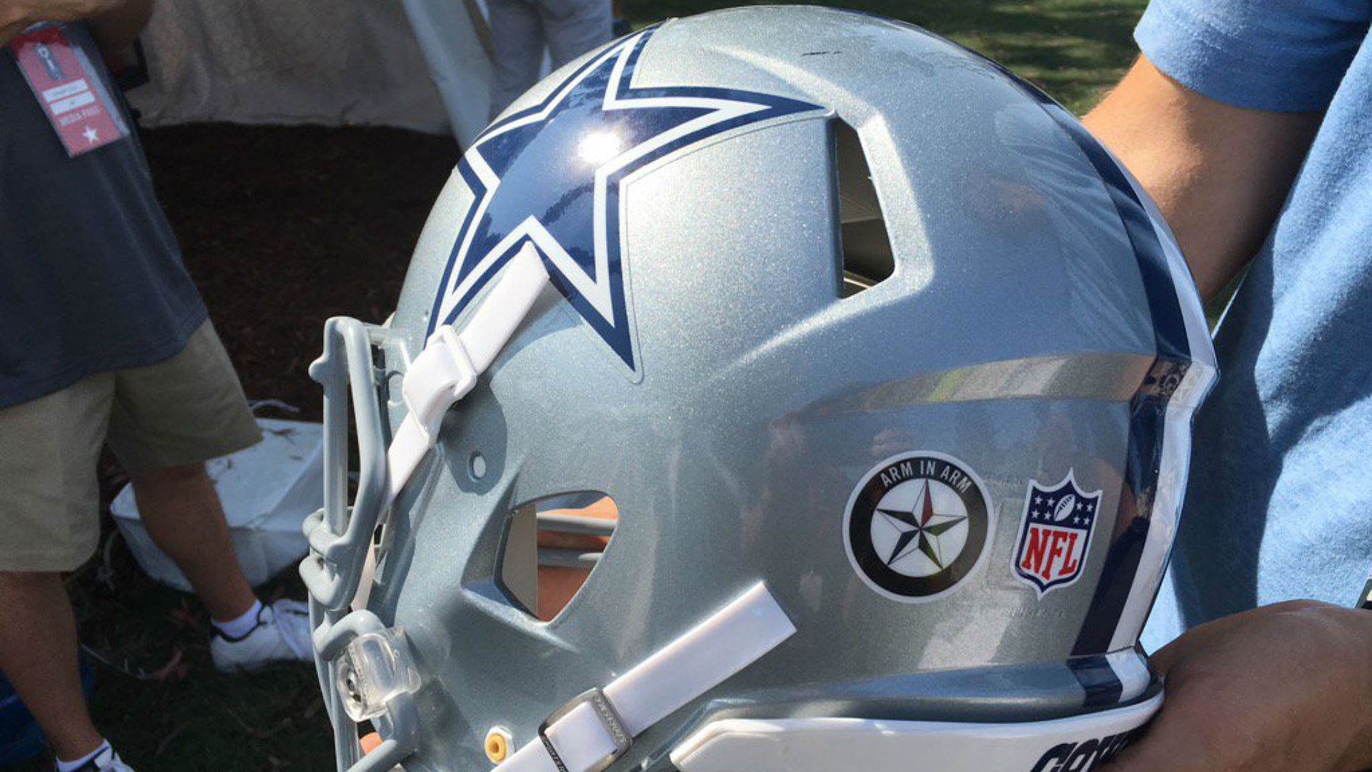 Image result for dallas cowboys banned helmet stickers