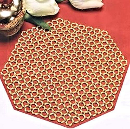 perline di stoffa, sistema di tovagliolo di perline, schema piatta di perline