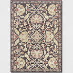 5'x7' Chenille Tapestry Persian Floral Woven Area Rug Red - Threshold , Size: 5'X7'
