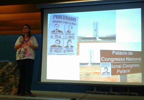 Bia Barbosa apresenta campanha contra Coronelismo Eletrônico