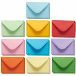Juvale Mini Envelopes 100 Count Bulk Gift Card Envelopes 10 Colors 4x2.7 Inches - 050817-29-V1
