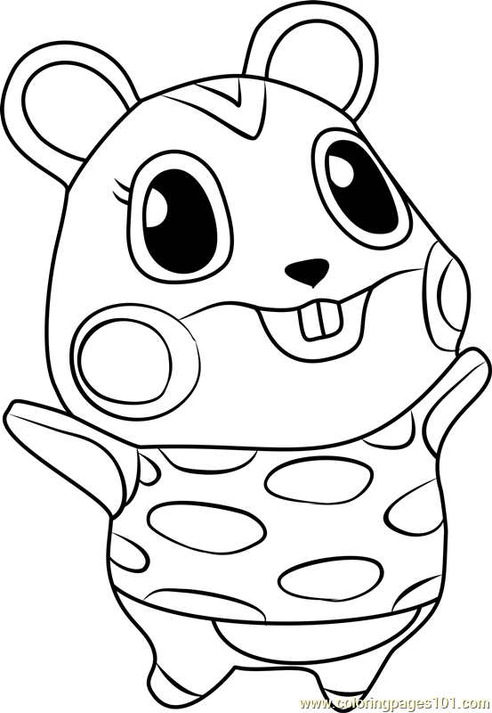 Apple Animal Crossing Coloring Page - Free Animal Crossing ...