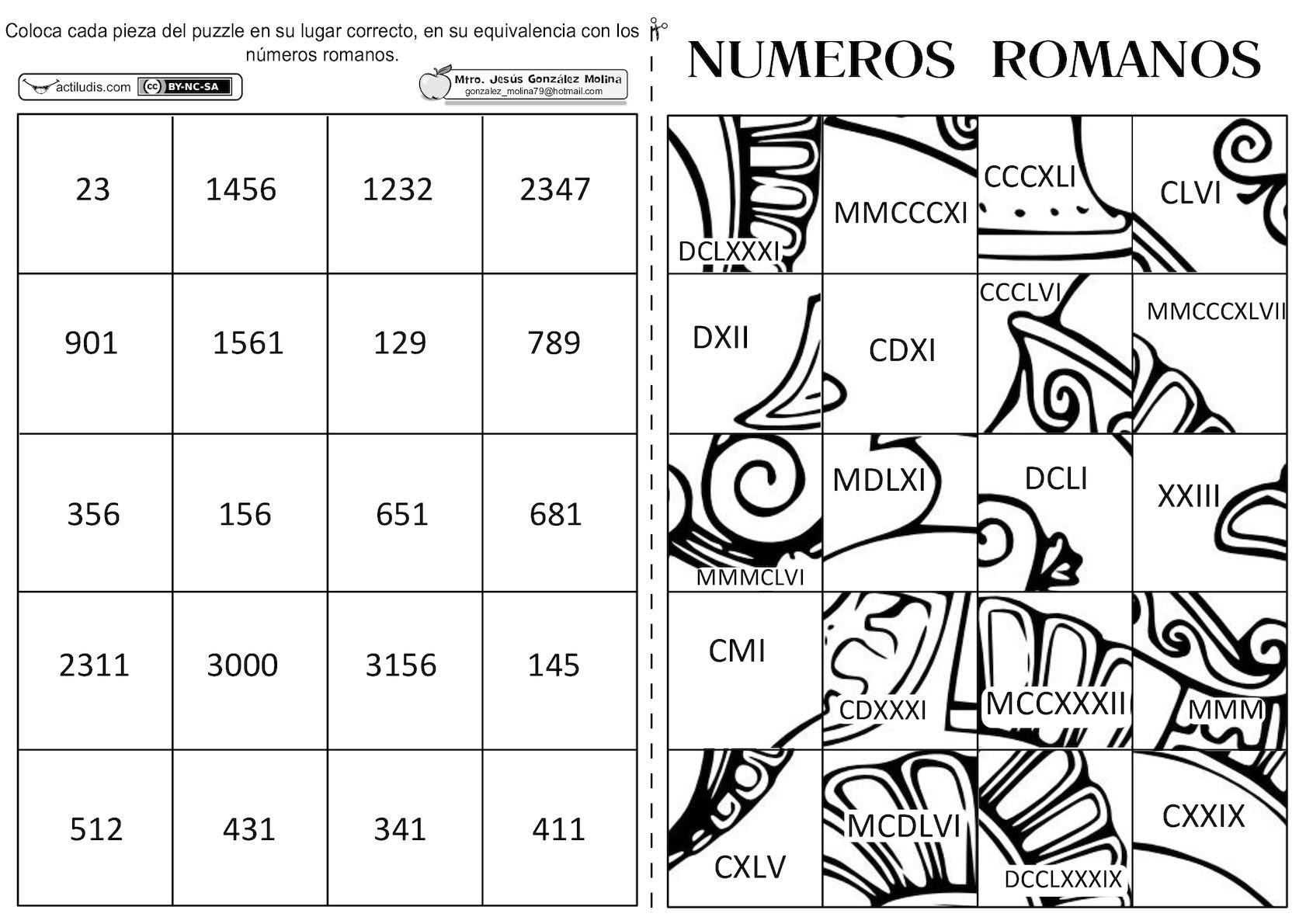 Calaméo Puzzle De Numeros Romanos