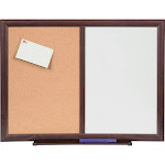 Lorell Dry-Erase/Bulletin Combo Board