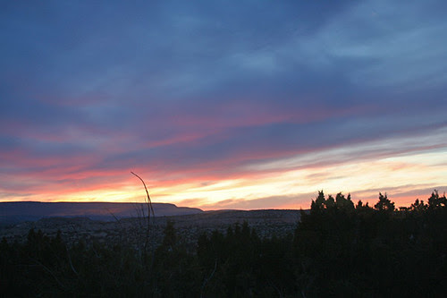Vernal Equinox View from our casita in New Mexico