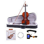 Glarry GV201 4/4 Full Size Beginner Acoustic Violin Outfit Solid Wood