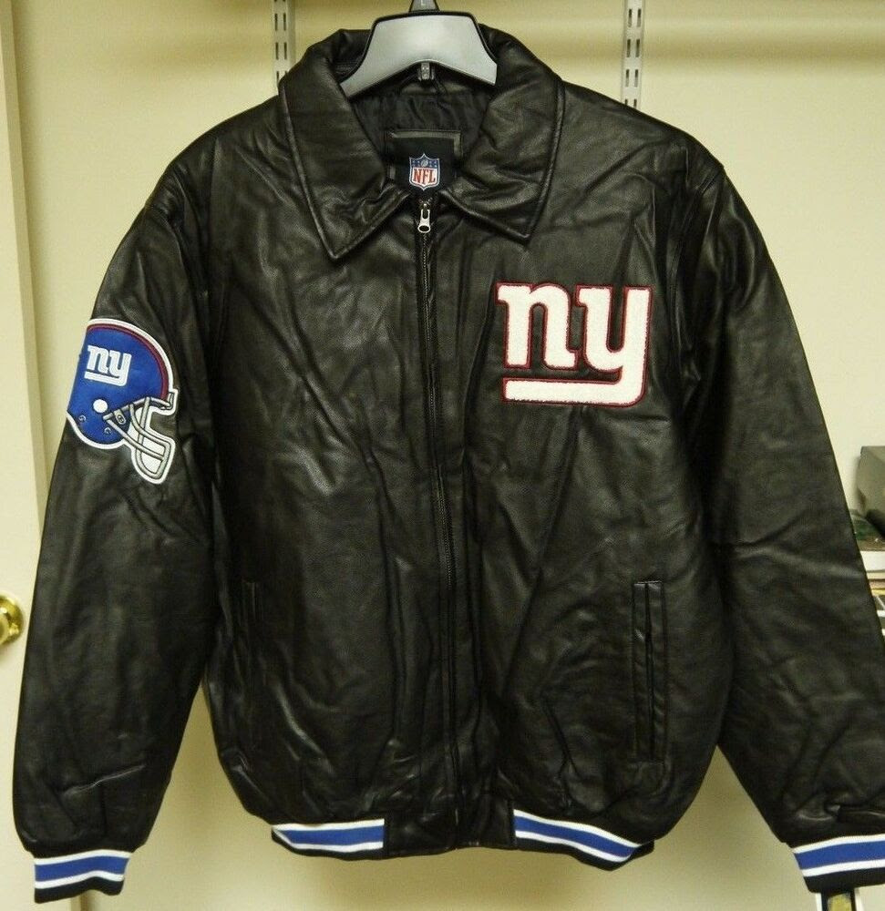 Official NFL Team Apparel NY Giants Faux Leather Jacket Size M, L, XL NWT  eBay