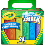 Crayola Washable Sidewalk Chalk - 24 pieces