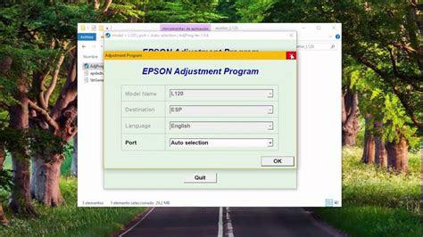 adjustment program epson  youtube