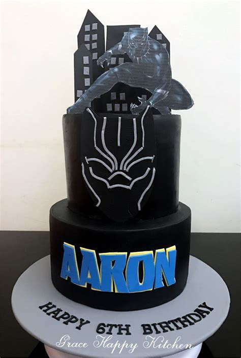 Black Panther Cake   Grace Happy Kitchen in 2019