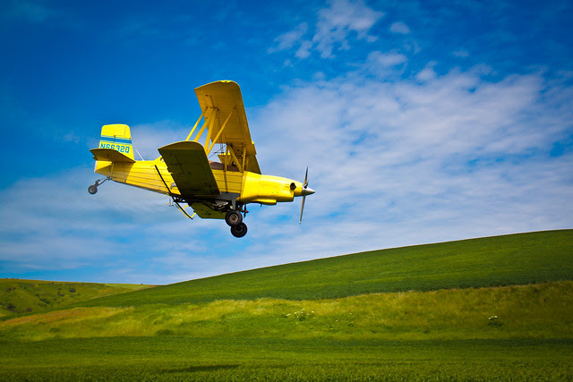 Farming plane in Palouse, WA