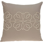 Parkland Collection PILD11156D Sutra Tan Square Transitional Pillow Cover with Down Insert - 20 x 20 x 7 in.