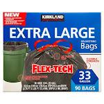 Kirkland Signature Flex-Tech 33-Gallon Trash Bag, 90-Count