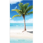 TF Publishing Tropical Beaches Small - Monthly planner - January 2020-December 2021 - month to view - 88.9 x 165 mm