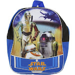 New Star Wars Episode 7 The Force Awakens Backpack (Features C3PO and R2D2)