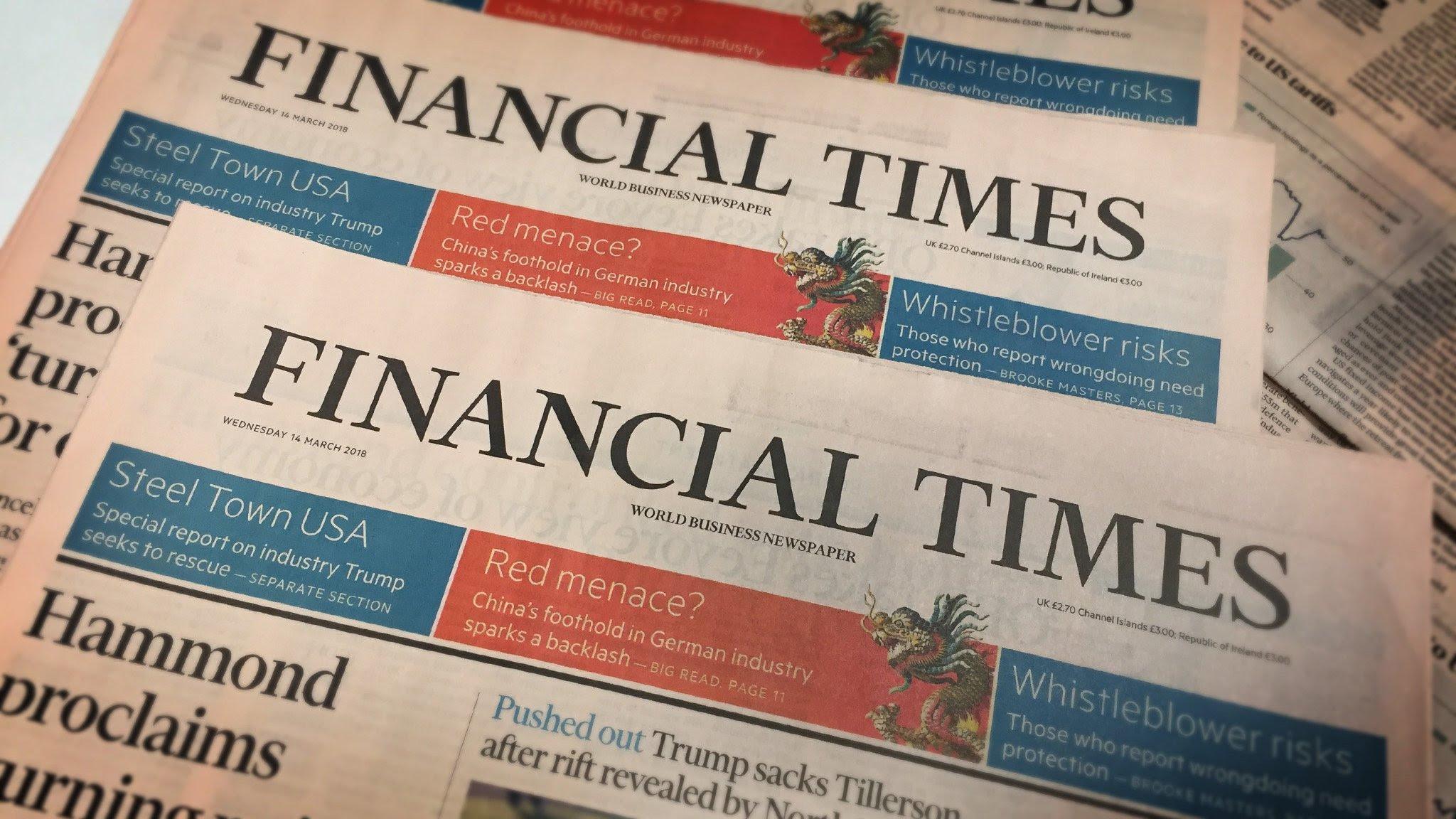 Risultati immagini per financial times