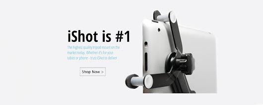 iShot Pro® Mounts l  iPad Pro 12.9, iPad Air 1 2, iPad Mini 1 2 3 4 , iPad 1 2 3 4 Tripod Mount Adapter Holder - Quality Mounting Solutions for Tablets, iPhones and Smartphones